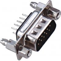 Best D - SUB Dual Row 9 Pin Male Connector 180°DIP PBT Type Brass 3.0AMP Current Rating ROHS wholesale