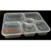 Best Disposable biodegradable plastic fiffin lunch box,compartment lunch box with lid,clamshell food packaging macaron pp bli wholesale