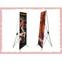 Cheap Retractable X Frame Banner Stand , Full Color Printing Trade Show Banner Stands for sale