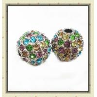 Best Customized Colorful Rhinestone Shamballa Crystal Pave Ball Beads 10mm wholesale
