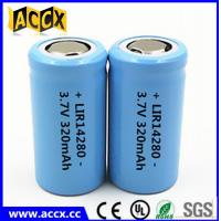 14280 li-ion small battery 3.7V 340mAh rechargebale 1-3C discharge lir14280