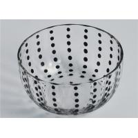 Best Colored Round Glass Candle Holder / Glass Candle Bowls Recyclable wholesale