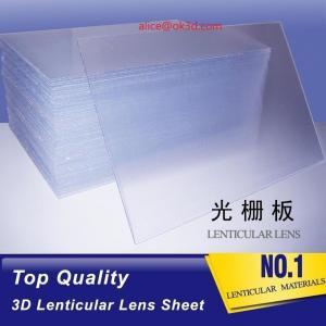 Best 3D Plastic Lenticular Lens Sheet 20 LPI flip lenticular effect thickness 3 mm for flip effect on digital printer wholesale
