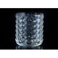 Best Soda Lime glass cylinder candle holders for decor , Exquisite diamond design wholesale