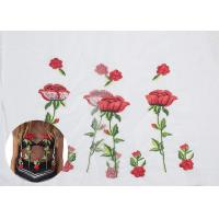 Best Polyester Embroideried Mesh Rose Lace Fabric , Floral Lace Netting Fabric OEM Service wholesale