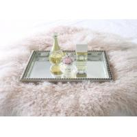 Best Real Mongolian Tibet Lamb Fur  Pastel Pink Rug Plate Throw New Genuine Pink Wool wholesale