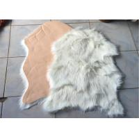 Best Hotel Synthetic Microfiber Australian Sheepskin Rug Elegant For House Decoration wholesale