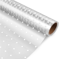 Best White Dot OPP Cellophane Candy Wrappers 3mils For Flowers Bouquet wholesale