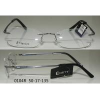 Best Comfortable Grey Rimless Eyeglass Frames For Men With Round Face , Retro Style wholesale
