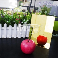 Best 5mm 1220 X 1830mm Plastic Mirror Sheet Gold Silver One Side PMMA wholesale