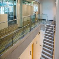 Cheap Outdoor Frameless Polish Stainless Steel Glass Balcony Railing Designs for sale