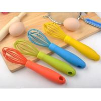 Best 100% Food grade silicone manual egg whisk set wholesale