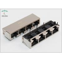 Best 1 x 4 Four Ports Ganged Modular Jack RJ45 Connector For Network Repeater wholesale
