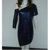 Best Navy Bling Bling Sequin Club Dresses , Classy Club Evening Dresses Lightweight wholesale