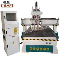 Best CA-1325 3 heads milling machine cnc with 1300*2500mm/cnc pneumatic head machine 3 spindles cnc machine wholesale