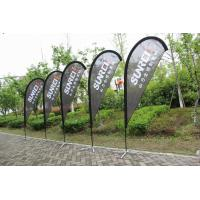 Cheap Silk Screen Printing Custom Teardrop Flags Signs For Advertising Single Sided for sale