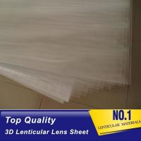 Best 100lpi 0.58mm PET lenticular sheet lens plastic film lenticular printing sheet lenticular sheet importer in usa wholesale