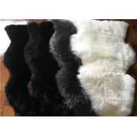 Best Real Australia Sheepskin Prayer Rug Grey Black dyed Lambskin Long Wool Rug wholesale