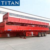 China TITAN 50-60 Ton Dry Cargo High Sided Drop Side Trailers For Sale on sale