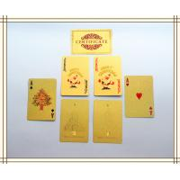 Best 57 * 87mm standard 52 cards 24K Custom Playing Cards Christmas gifts wholesale