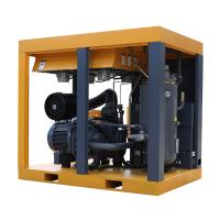 Best 100HP Large displacement two stage screw air compressor with two IPM motors wholesale