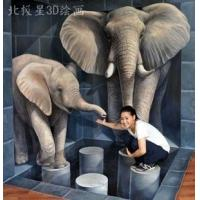 Best elephants 3d oil painting for home deoration on canvas wholesale