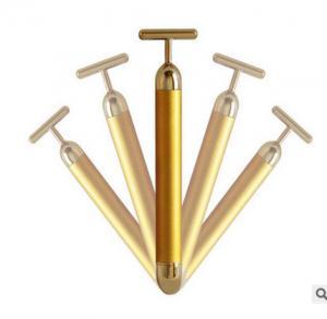 China 24k Golden Vibrating pulse skin care Massage Beauty Bar Portable Massgad Device on sale