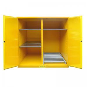 Best Flammable Drum Storage Cabinets , Gasoline Storage Cabinets 2 Door For Oil Tank Drum wholesale