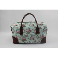 Best Portable Floral Print Women'S Canvas Travel Bag Multifunction Hand Carry With Printing Logo wholesale