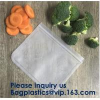 Buy cheap Food Snacks Extra Thick FDA Grade Leakproof Reusable PEVA Storage Bag,Seal from wholesalers