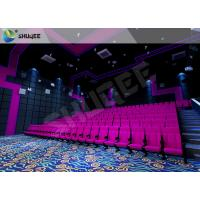 Best Red Vibration Seat Sound Vibration Cinema Equipment For Shopping Mall wholesale