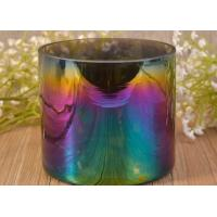 Best Large Iridescent Blue Ombre Decorative Glass Candle Holder For Wedding wholesale