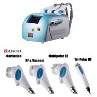 Best Blue Portable Cavitation RF Body Slimming Machine 4 In 1 4 Handpiece Body Weight Loss Machine wholesale
