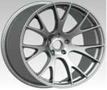 China Silver Rim  20 Inch Alloy Wheels Machined Face / Silver  With SRT on sale