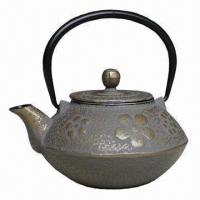 Quality Plum Flower Type Tetsubin Tea Pot, 0.8/1.2L Capacity, Made of Cast Iron, Enameled Coating wholesale