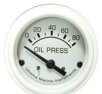 Best Marine White Oil Pressure Gauges, Electrical, 80Psi wholesale