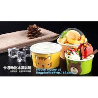 Best 12oz 360ml 34oz 1000ml ice cream paper cup and paper lid,double pe coating single wall recycled 16oz icecream cup 500ml wholesale
