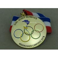 Buy cheap Gold Plating Enamel Medals , Olympic Awards For Running Race from wholesalers