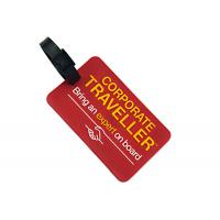 China Soft Rubber Custom Plastic Luggage Tags OEM / ODM Accepted Light Weight on sale