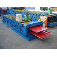 Best Blue 5 M / Min Roof Panel Glazed Tile Roll Forming Machine With 18 Forming Station wholesale
