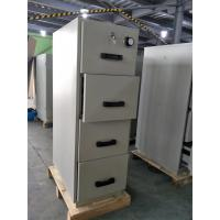 Best Grey Steel Fire Resistant Filing Cabinets 4 Drawers For Valuable Records / Documents wholesale