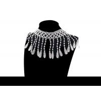 Buy cheap Custom Fashion Guipure Polyester Lace For Apparel / Decorative Tassel Fringe Trim from wholesalers