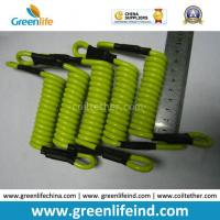 Best Strong Short Strong Solid Lemon Green 5.0mm Coil Lanyard Tether wholesale