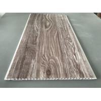 Best Recyclable Brown PVC Wood Panels As Ceiling Covering 7.5mm Thickness wholesale