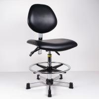 Cheap High Bench Height ESD Task Chair Lumbar Support Tilt Adjustment Back And Seat for sale