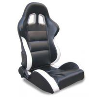Cheap Black and white Sport Racing Seats with harness / classic sports car seats for sale