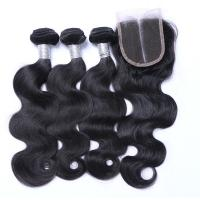Best 7A Peruvian Lace Top Closure , Peruvian Body Wave Human Hair Extensions wholesale