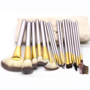 Best Home 18pcs Champagne Handle Face Makeup Brush Set wholesale