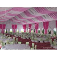 Quality 300 People Luxury Wedding Tents Rentals Aluminium Frame Marquee With Pink White Lining Decoration wholesale