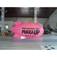 Best Inflatable Advertising Helium Zeppelin , Openning Events Pink PVC Inflatables wholesale
